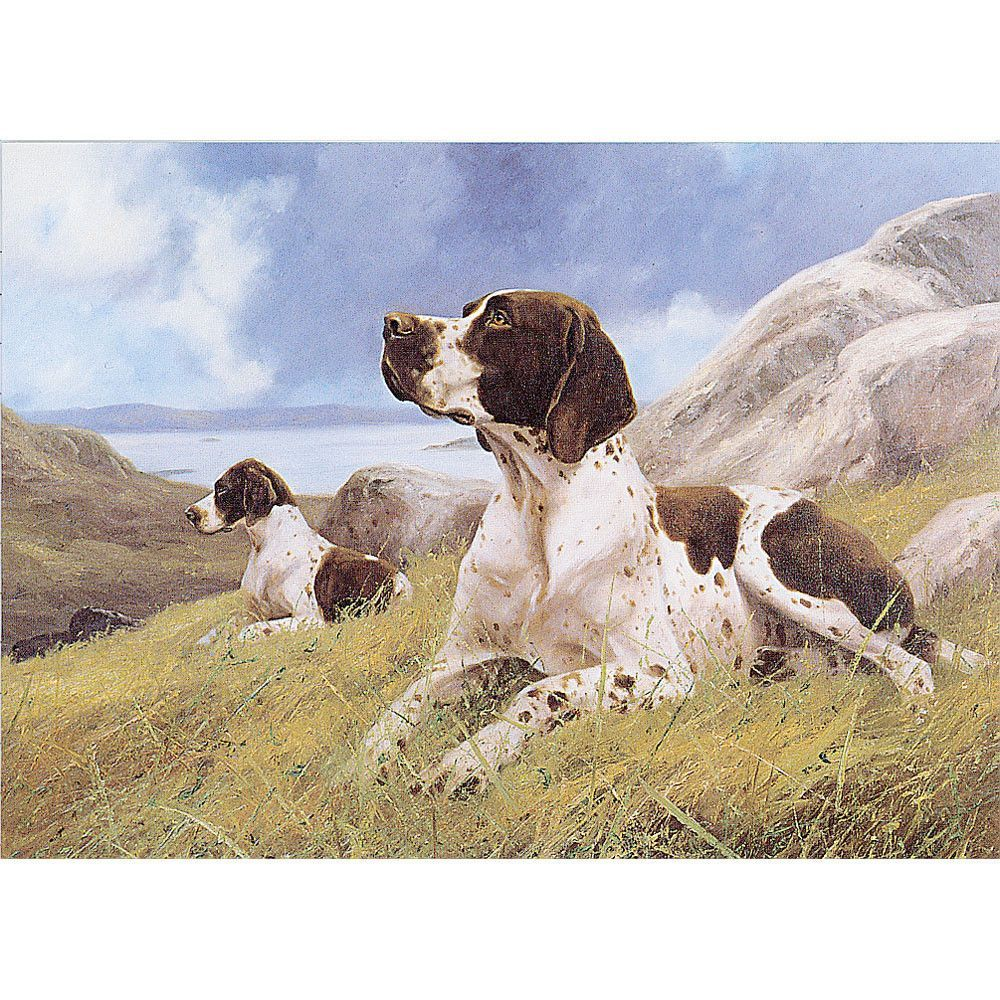 Dogs Ready and Waiting (English Pointer) 6 pack