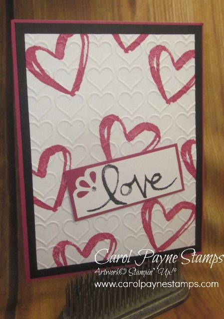 Stampin\u0027 Up! Watercolor Words for a Valentine! Cards - Watercolour - valentines cards words