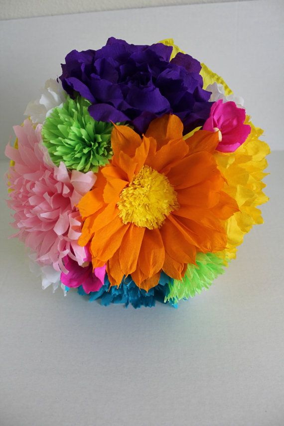 Large bouquet mexican crepe paper flowers multicolor we make large bouquet mexican crepe paper flowers by flowersbyjuliava mightylinksfo