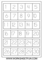 Number Tracing Worksheets 1 To 30 Homeschooling Worksheets