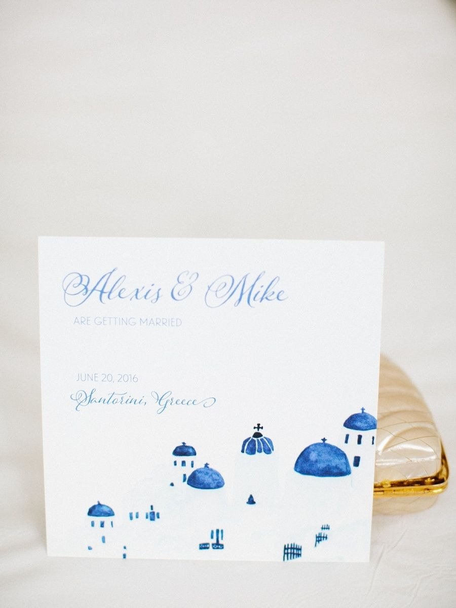 Photo of Bright + Beautiful Santorini Summer Wedding