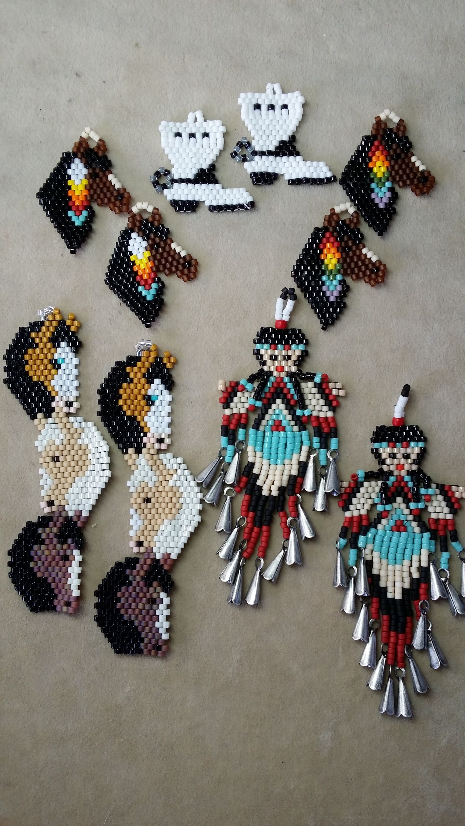 Pin by fildeloire on My Creations | Bead loom designs