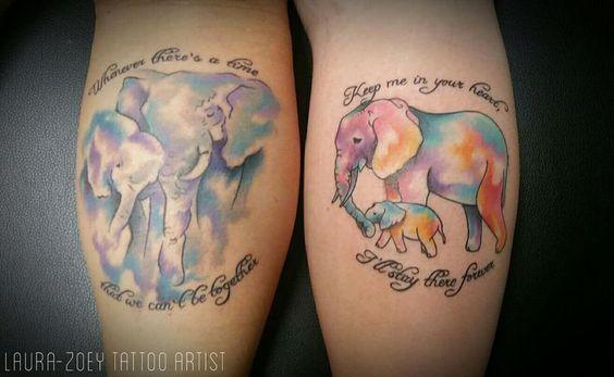 Dad Daughter Elephant Tattoos
