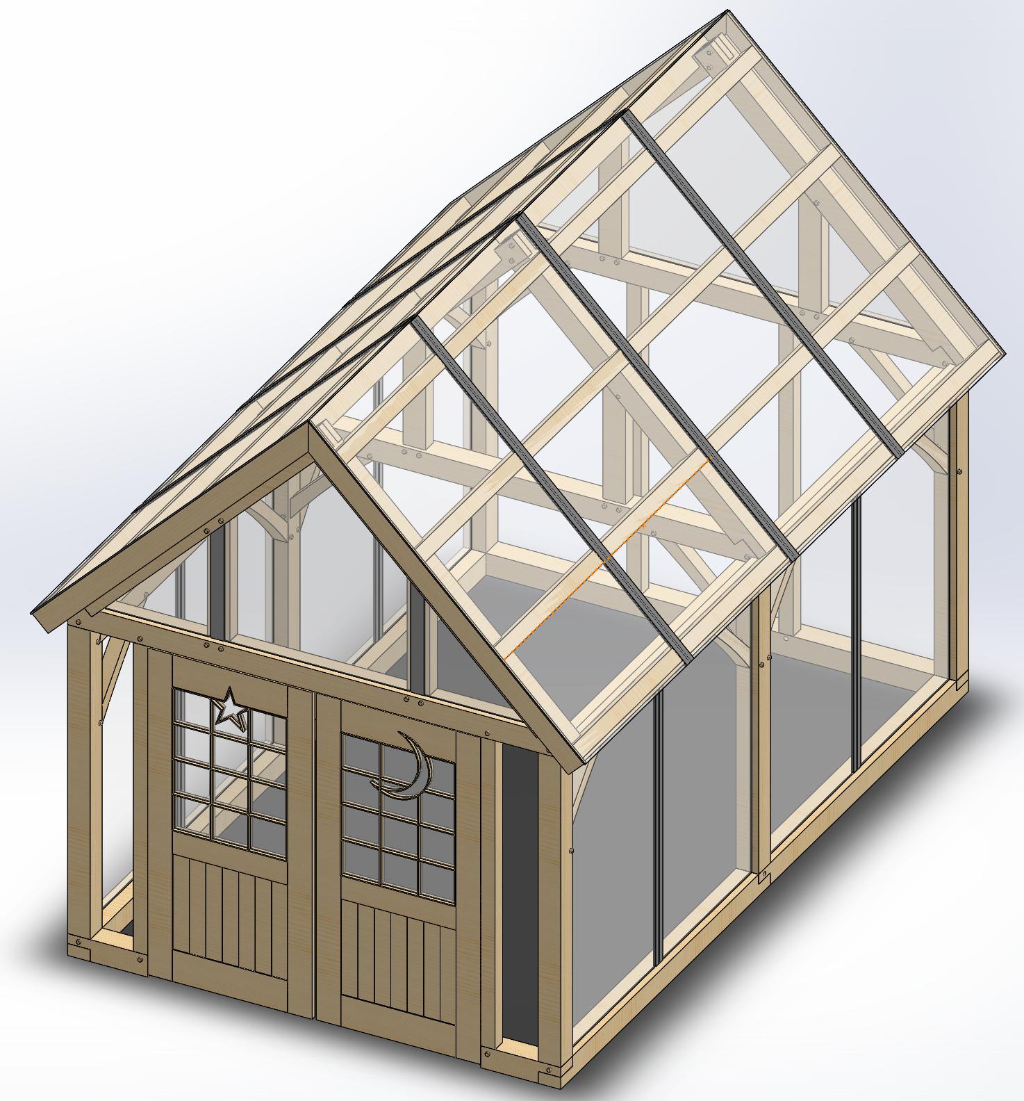 Timber Frame Greenhouse (Design in progress)... http://ift.tt ...