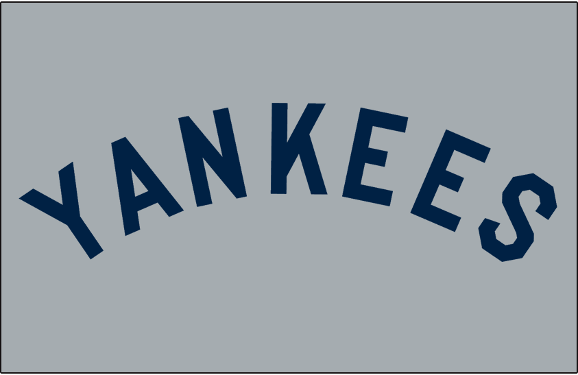 separation shoes 1a364 34ba3 New York Yankees Jersey Logo (1927) - YANKEES arched in navy ...