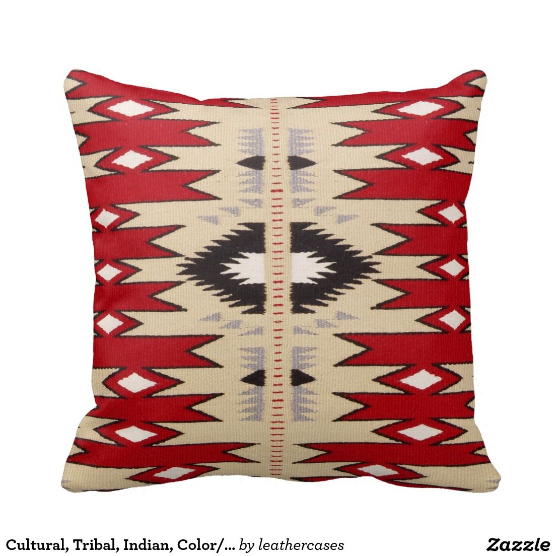 Cultural, Tribal, Indian, Color/Hue Red Print Pillows