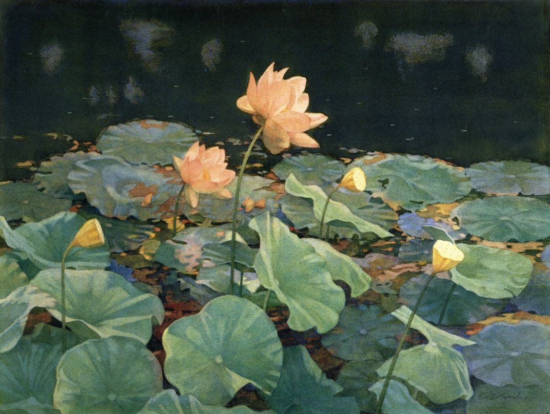 charles emile heil(1870-1950), the lotus, 1912. water color, 42.86 x 57.15 cm. museum of fine arts, boston, usa