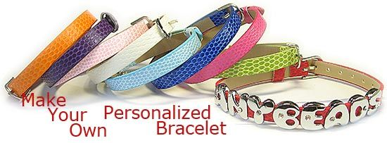 Personalized Alphabet Slide Charm Bracelet
