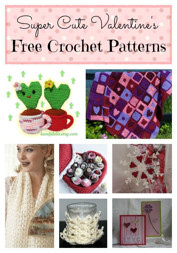 8 super cute valentine's day crochet patterns  crochet
