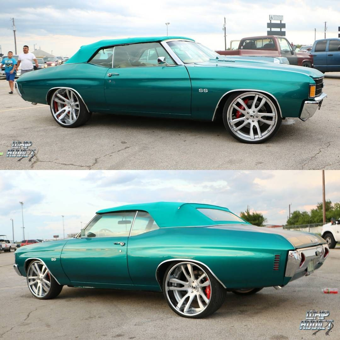 72' Chevelle #BecauseSS Convertible Concave Wheels