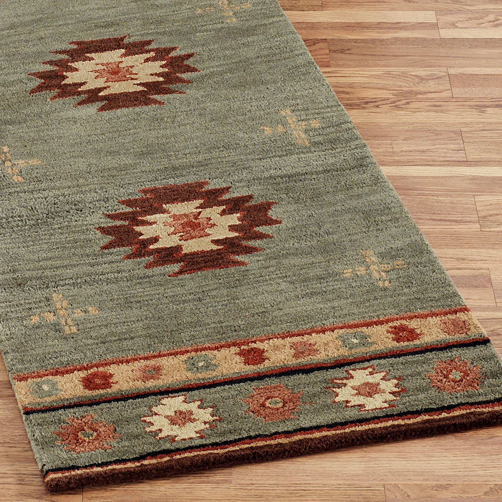 Southwest Diamond Wool Rug Runners Western Bathroom Rugs Rugs Bathroom Rugs