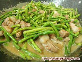 Pinoy Food Recipes: Ginataang Sitaw with Pork (String Beans Cooked in Coconut Milk)