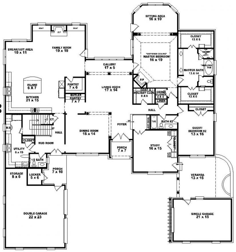 654276 4 Bedroom 4 5 Bath House Plan House Plans Floor Plans Home Plans Plan It At Houseplanit Com Modular Home Floor Plans House Plans Luxury Plan