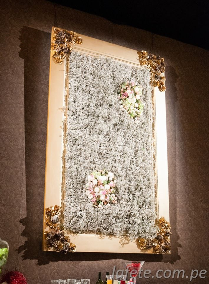 Wall At The Bar Flower Baby Breath Frame Flower Wall Frame Decorative Tray