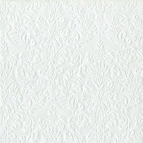 ServietterMiddag Cameo Perlemor Hvit 16-pk. Med preget mønster. Meget elegante 3-lags kvalitetsservietter.Størrelse:40cm x 40cm