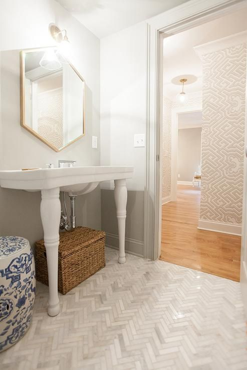 powder room floor tile ideas