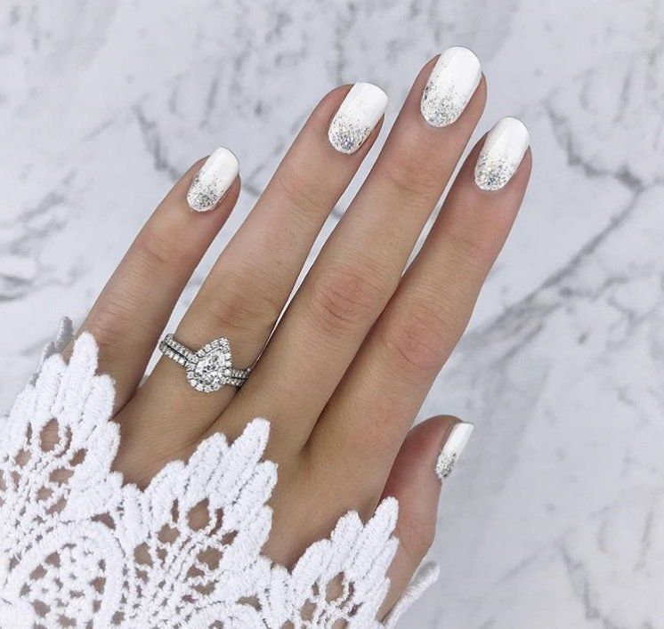 19 Elegant Wedding Manicure Ideas Beyond a Pale Pi