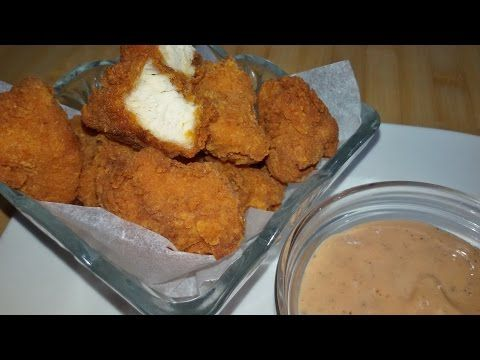 أفضل طريقة لتحضير بوب كورن الدجاج مع صلصة الكوكتيل Chicken Popcorn Youtube Food Arabic Food Desserts
