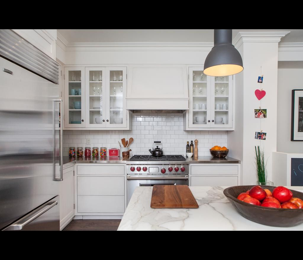 Kitchen Bulkhead White Kitchen Subway Tile Bulkhead In The Kitchen Designer