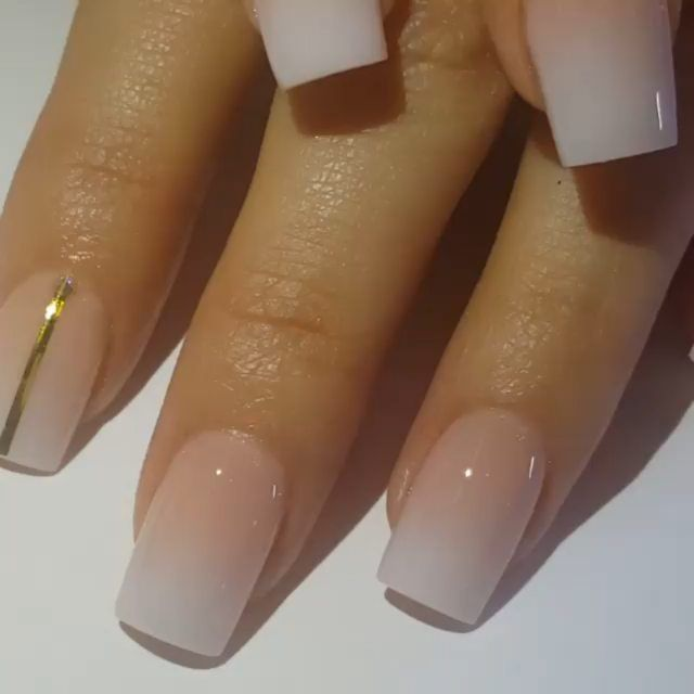 French ombre works for short and long nails alike, elongating your ...