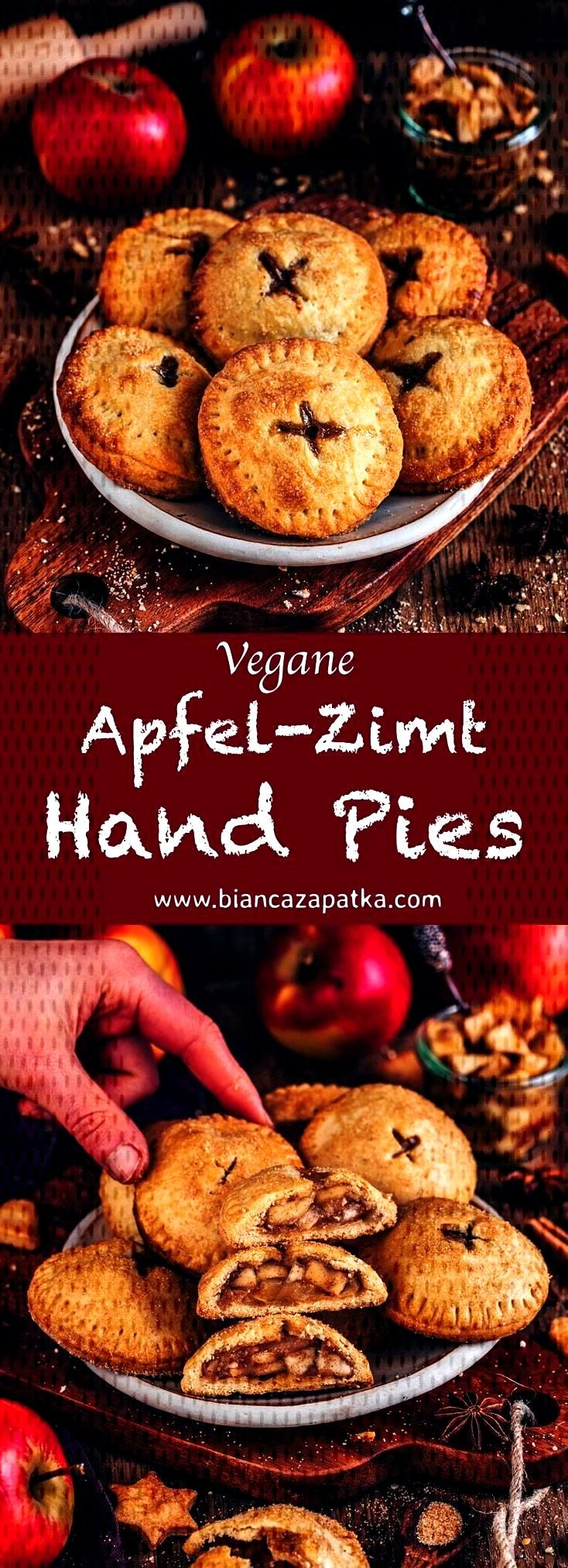 Hand Pies (vegane Mini-Apfelkuchen) - Bianca Zapatka | Rezepte - Apfel Hand Pies, Mini Apfelkuchen