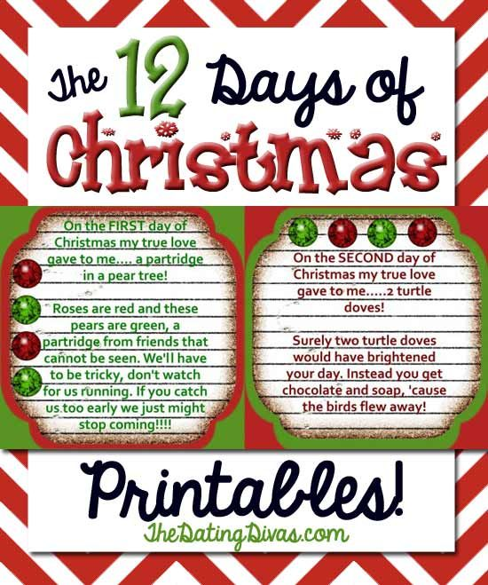 Everything your family needs to gift a fabulous Christmas countdown to  someone for FREE! You get the riddles, number tags, and a shopping list to  boot! www. - 12 Days Of Christmas Gift Ideas - From Christmas Ideas Christmas