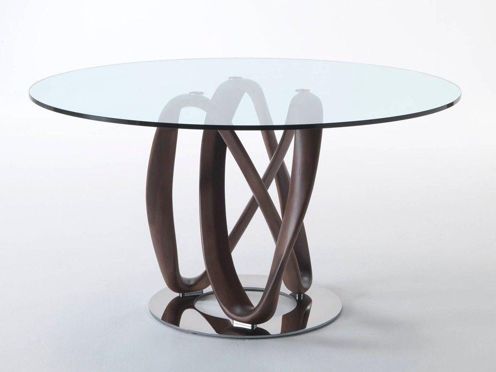 Porada Infinity Round Glass Dining Table By S.Bigi   Chaplins