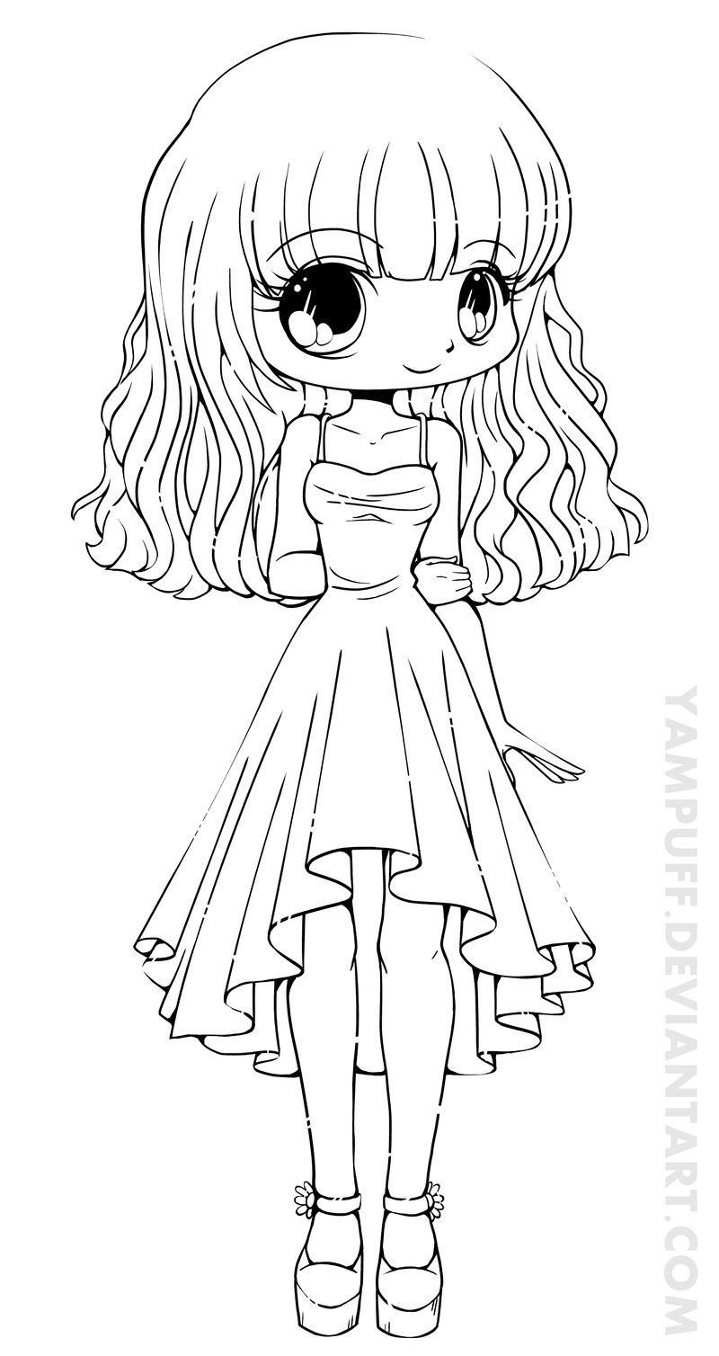 Coloring Page:Fascinating Chibi Coloring Page Cute Anime Pages 15 ...