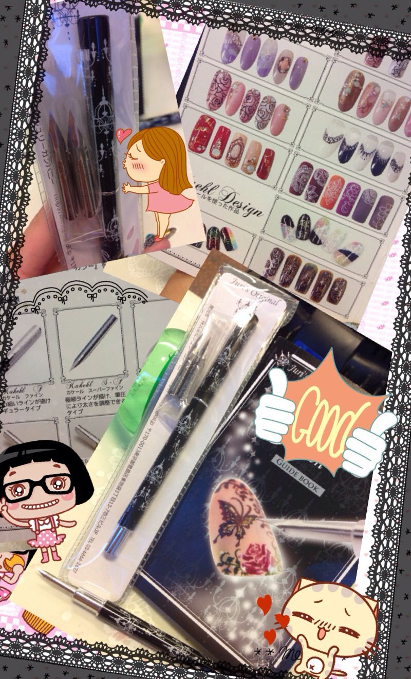 J-pen I bought from Japan, it\'s very easy to use and drawing laces n ...