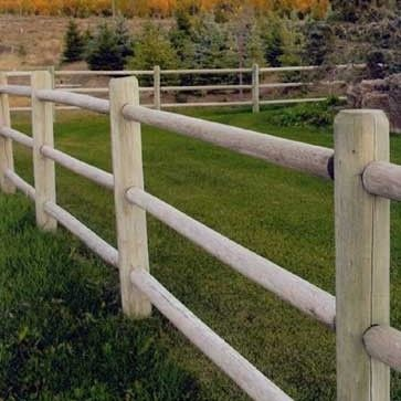 Four Foot Round Rail Fencing Post And Rail Fence Rail Fence Rustic Fence