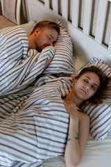 Couple sleeping on comfortable bed , #SPONSORED, #sleeping, #Couple, #bed, #comf…   – Business Icons Design Medium –