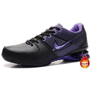 6313a31e1b45 Womens Nike Shox R2 Black Purple