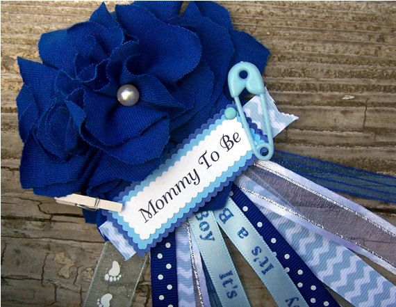 Dark Blue Mommy To Be Corsage Baby Shower Corsage Grandma To Be