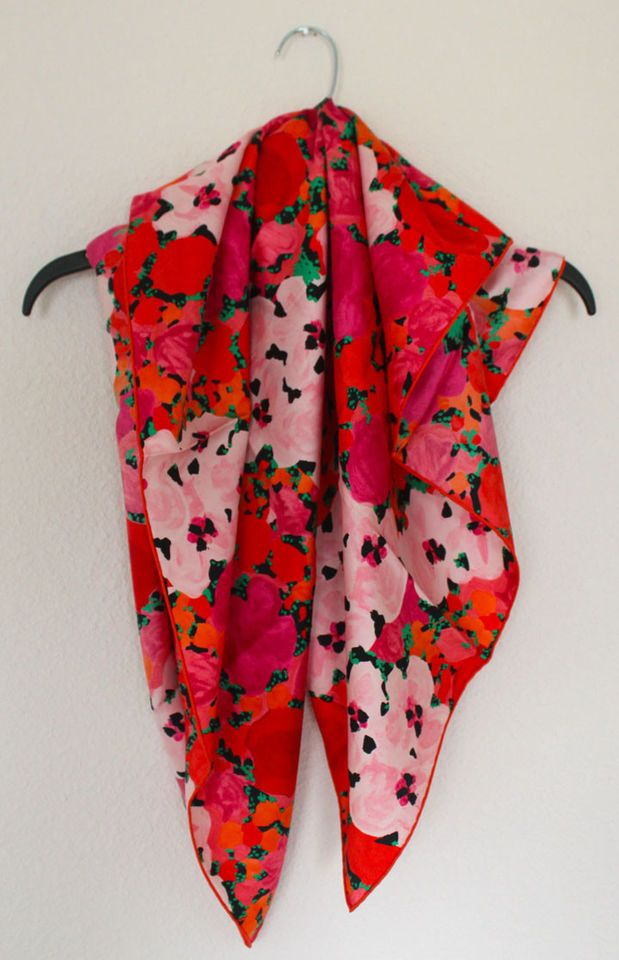 Christian Dior Silk Floral Scarf. New with Box!