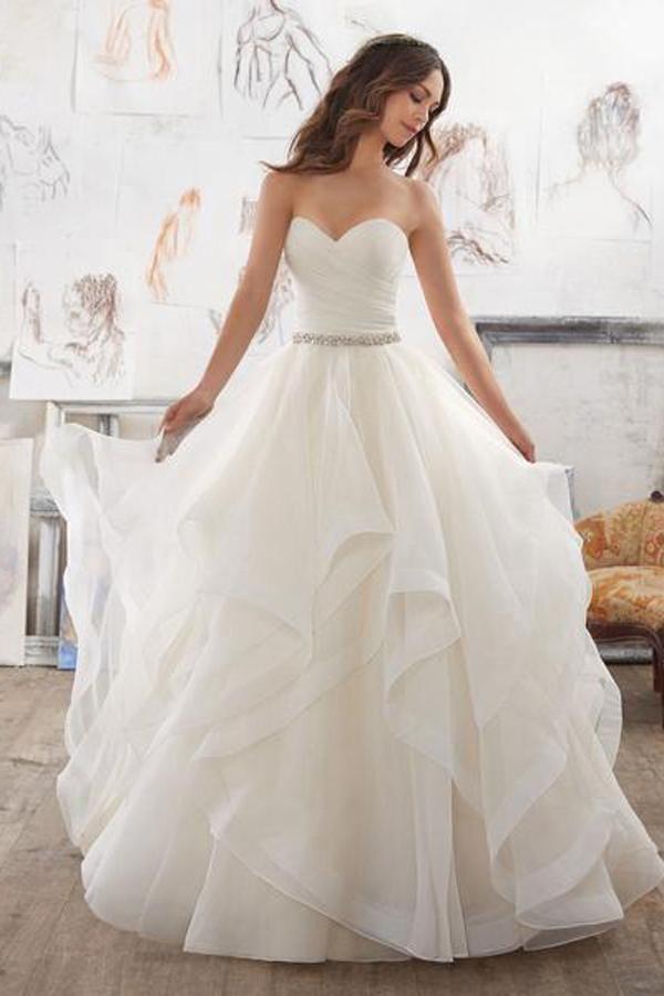 Inexpensive Wedding Dresses with Ruffles