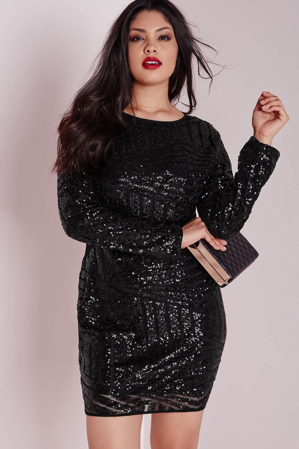 Plus Size Black Sequin Dress in 2019 | Styles <3 | Black sequin ...
