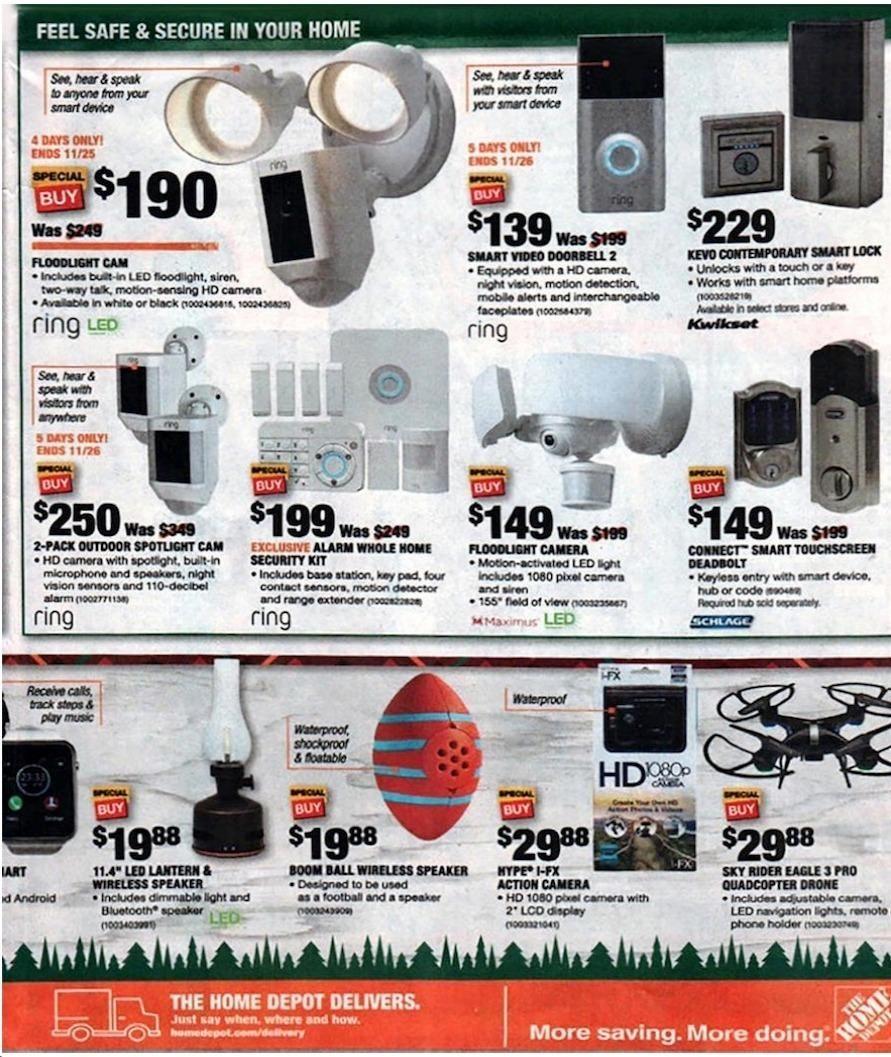 Print Ad Home Depot Black Friday 2018 Home depot