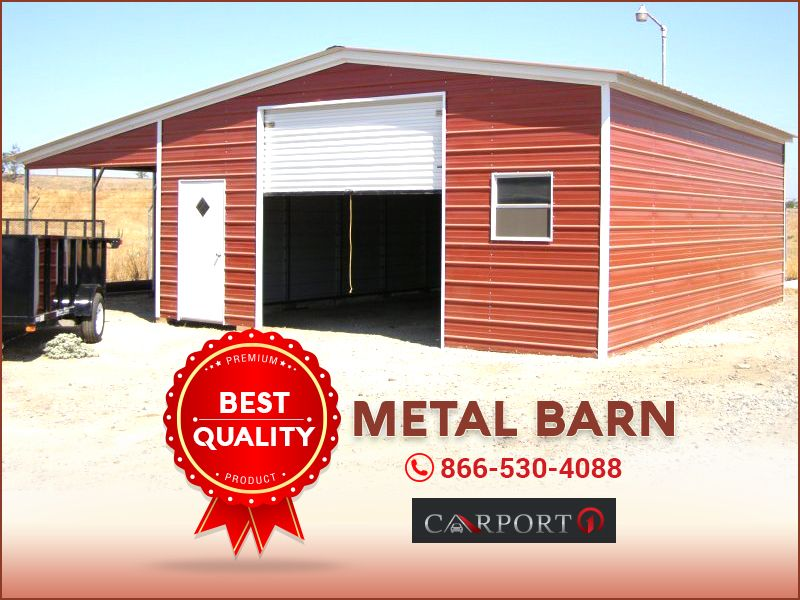 30w X 26l X 10h Seneca Barn Features With 1 10 X 10 Garage Door 1 36 X 80 Walk In Door 1 30 X 30 Window Metal Farm Buildings Farm Buildings Metal Barn