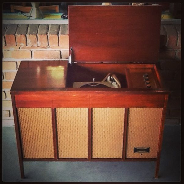1960s Columbia Stereo Console Turn On Tune In Drop Out