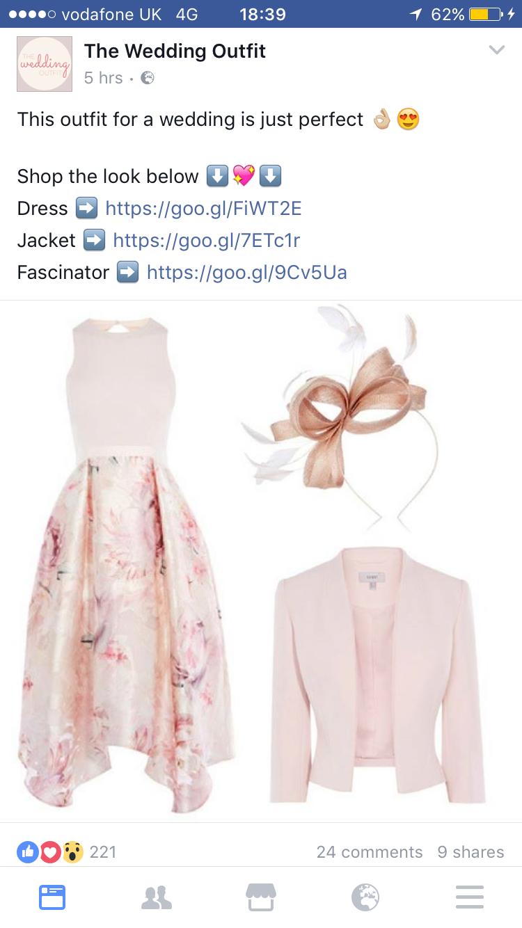 Pink dress to wear to a wedding  Pin by Eduarda Pereira De Moura on Roupas  Pinterest