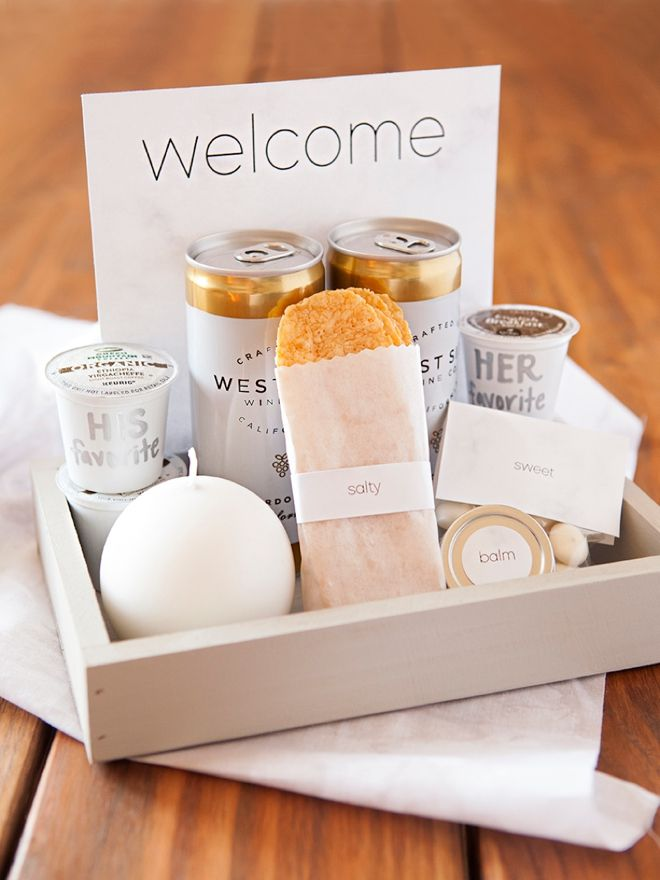 The Anatomy Of A Wedding Hotel Welcome Gift Wedding Welcome Gifts Wedding Gifts For Guests Wedding Gift Baskets