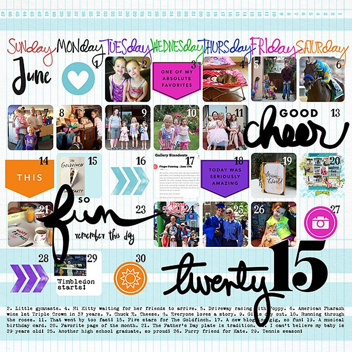 June 2015 Favorites Love This Projectlife Style Scrapbook Page By