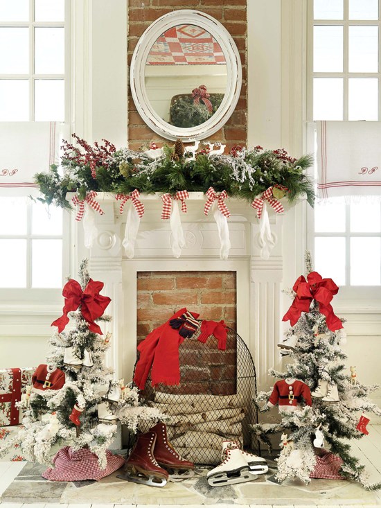45 Pics For Decorating: Holiday Mantels