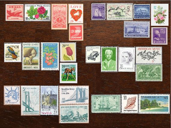YOUR CHOICE .. 70cent .. Vintage UNused Postage Stamps .. to post 100 2oz standard envelopes
