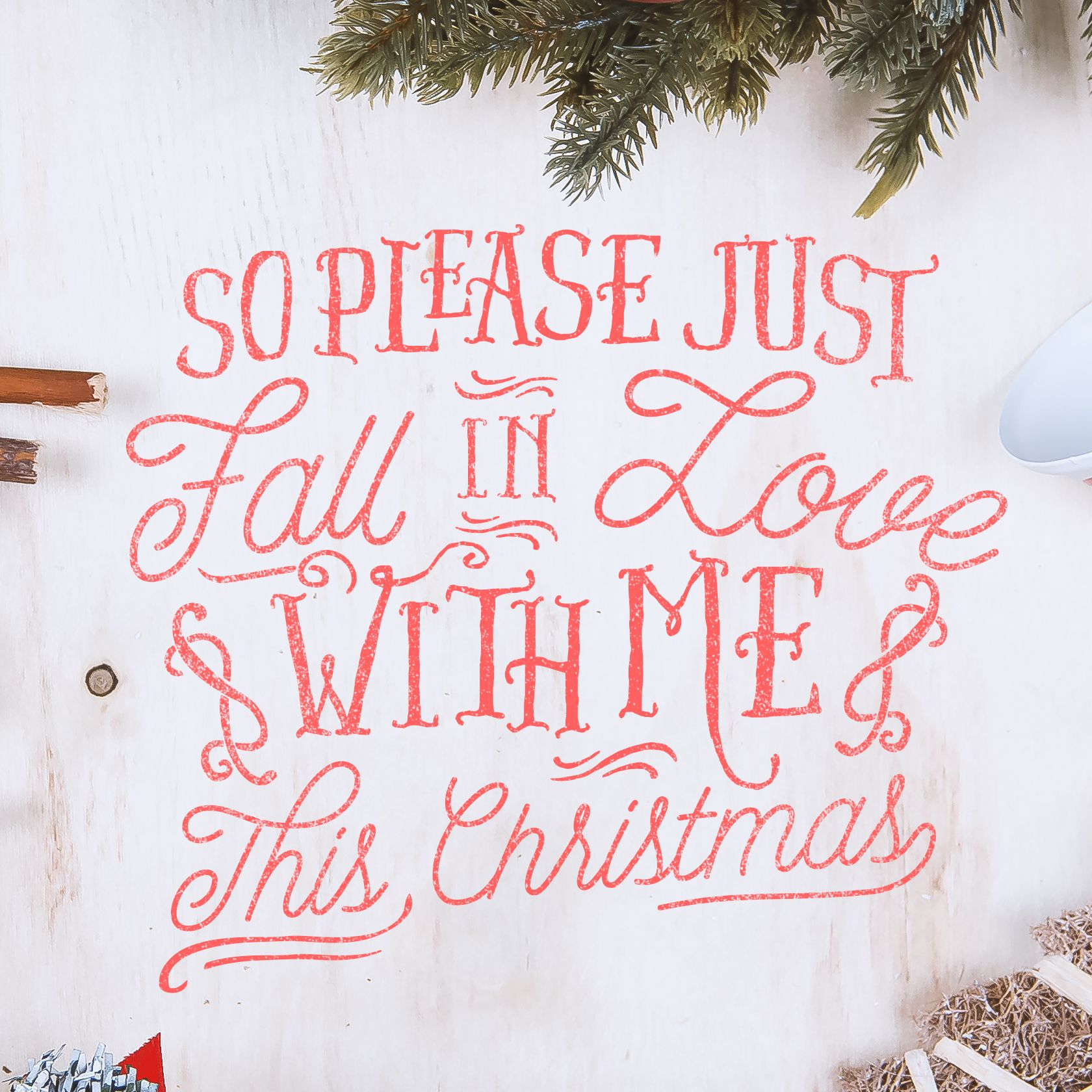 So please just fall in love with me this Christmas Cold December ...