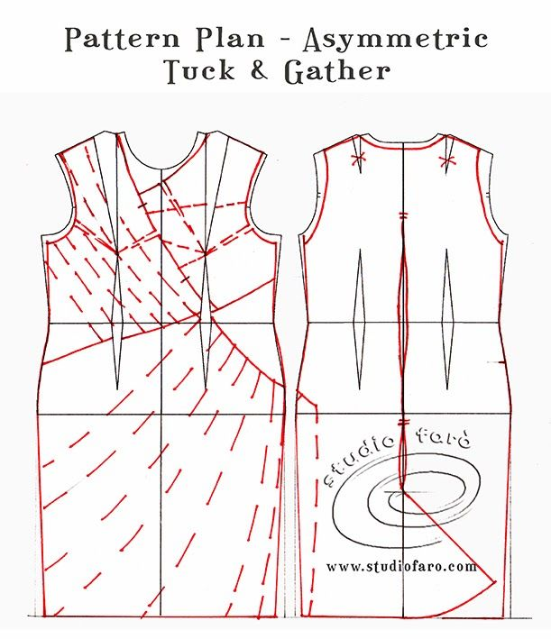 well-suited: Pattern Puzzle - Asymmetric Tuck & Gather