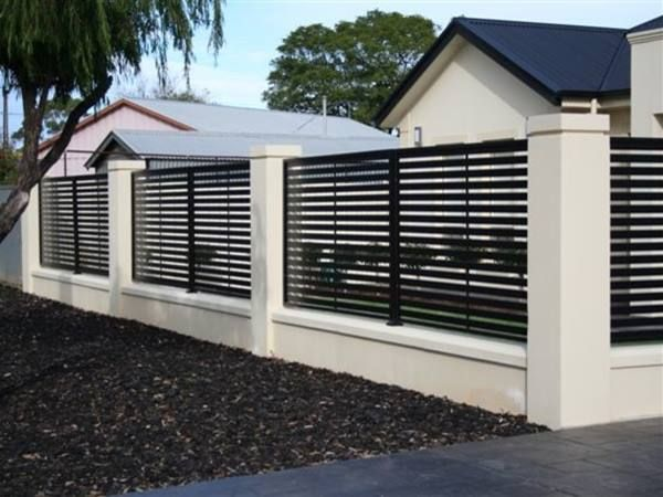 Black And White Minimalist Fence Color Modern Fence