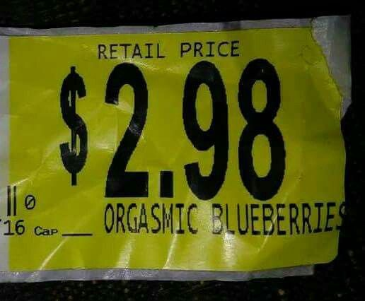 Oh my! And to think I usually just get the organic blueberries!
