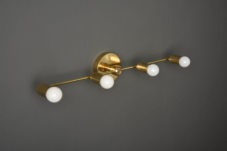 Gold Vanity Light Wall Sconce Modern Bathroom Light Etsy