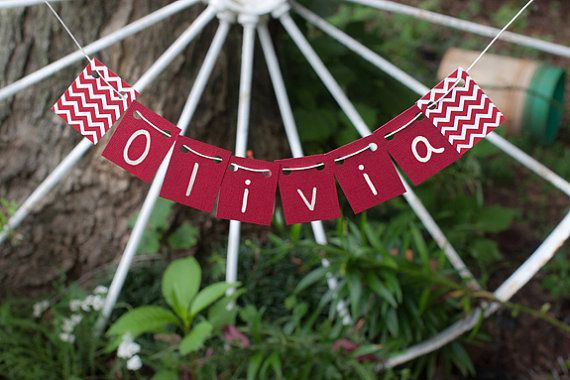 Love this MINI Banner!  Red & White Chevron by TheOhSoSweetLife, $23.00